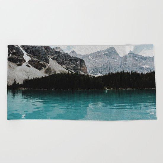 Lake Moraine, Banff National Park Beach Towel