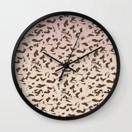 Pink Sand Animal Print Abstract Wall Clock