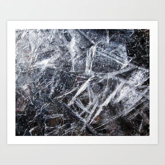 Ice Patterns Art Print