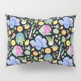 Winter Harvest Pattern Dark Pillow Sham
