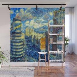 """""""Gogh's Style Gran Vía"""" Wall Mural"""