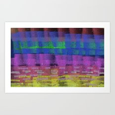 October Abstract Art Print