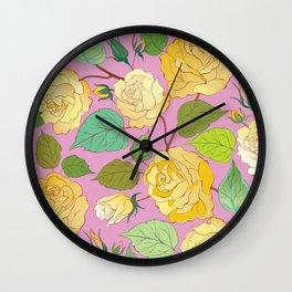 Roses 7 Wall Clock