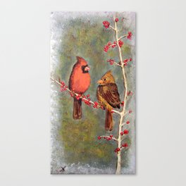Birdies Canvas Print