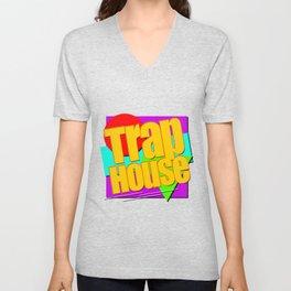 Trap House Square Logo Unisex V-Neck