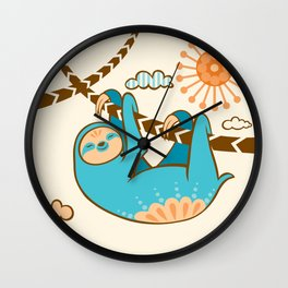 Just Hang In There Wall Clock