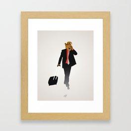 Industrious Alf Framed Art Print