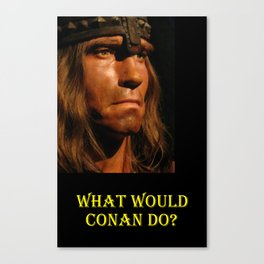 What Would Conan Do? Canvas Print