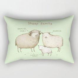 The Sheep Family Rectangular Pillow