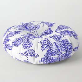 Butterfly Pattern Navy White Stamp Floor Pillow