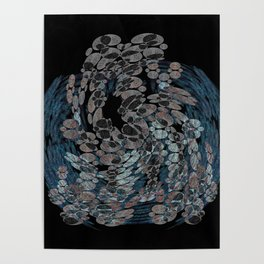 Elegant Stone Whirlwind Earth Elements Abstract Poster