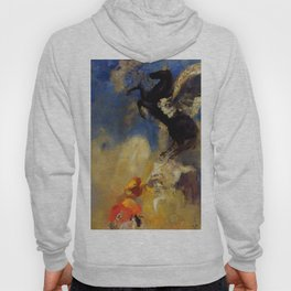 "Odilon Redon ""The Black Pegasus"" Hoody"