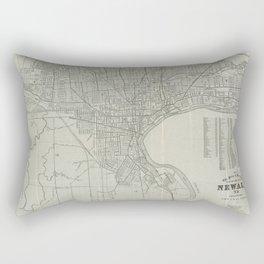 Vintage Map of Newark NJ (1920) Rectangular Pillow