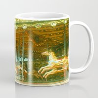 carousel Mugs featuring Carousel by Cassia Beck