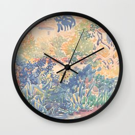 The Artist's Garden at Saint-Clair by Henri-Edmond Cross 1904-5, French Wall Clock