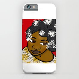 Pretty With White Flowers iPhone Case