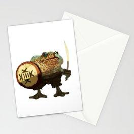 Frog warrior Stationery Cards