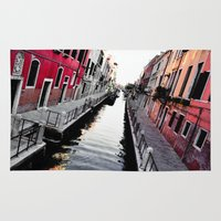 channel Area & Throw Rugs featuring Venice Channel by Karina Faiani