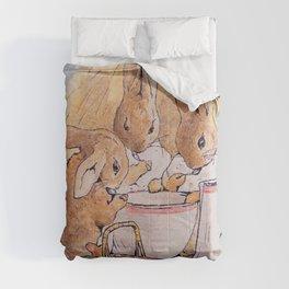 Peter Rabbit with his parents Comforters