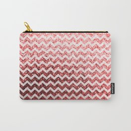 Glitter Sparkly Bling Chevron Pattern (red) Carry-All Pouch