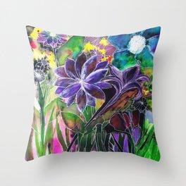 Spring Garden In Bloom Throw Pillow