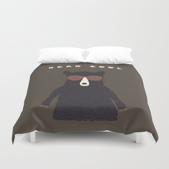 bear cool Duvet Cover