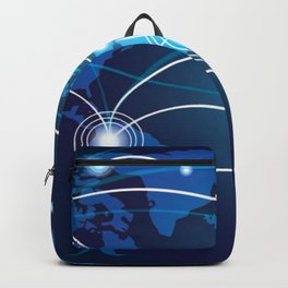 World Map Network Connectivity Business Power Design Backpack