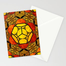 Sacred Geometry for your daily life -  Platonic Solids - ETHER COLOR Stationery Cards