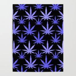 Marijuana Violet Blue Weed Poster