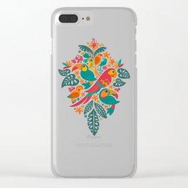 Tropicana (retro) Clear iPhone Case