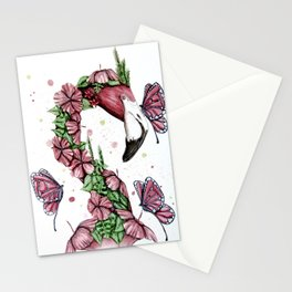 Tropical Flamingo Pink Stationery Cards
