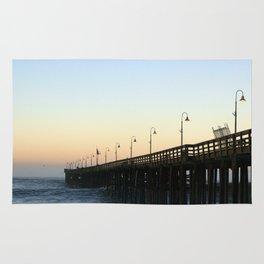 Ventura Ocean Wave Storm Pier Rug