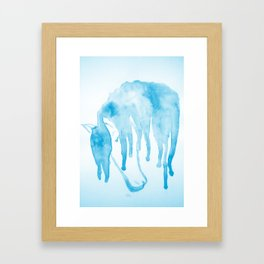 Horse blues Framed Art Print