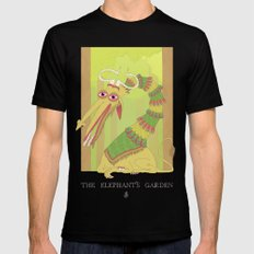 The Elephant's Garden - The Perpetual Glibb MEDIUM Black Mens Fitted Tee