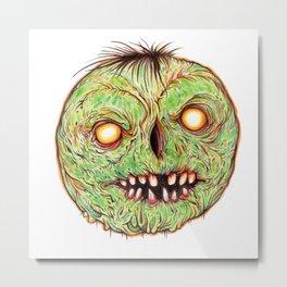 Rotten Head - Green Disease Metal Print