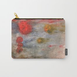 Rosy brown clouded wash painting Carry-All Pouch