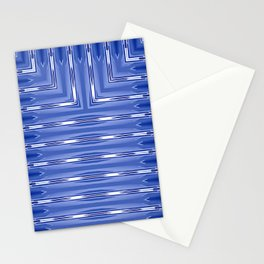 Art Deco Blue Spear Pattern Stationery Cards