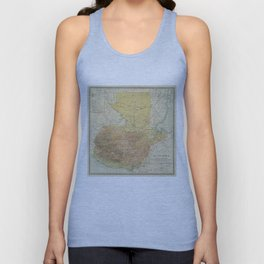 Vintage Map of Guatemala (1902) Unisex Tank Top