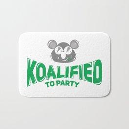 Koala Bear Party Celebration Koalified to Party Bath Mat