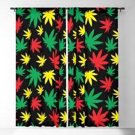 Rasta Weed Pattern Blackout Curtain