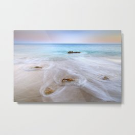 """Serenity beach"". Praia Do Porto Mos At Sunset. Algarve. Portugal Metal Print"