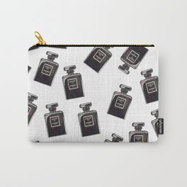 Classic Black Parfum Pattern Carry-All Pouch
