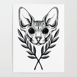 Sphynx & Laurel Poster