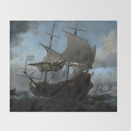 "Willem van de Velde ""The Dutch Fleet Assembling"" Throw Blanket"