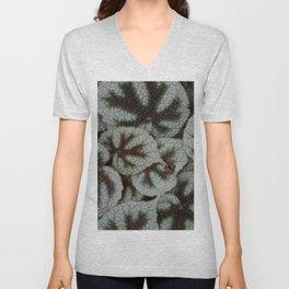 Leaf textures Unisex V-Neck