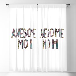 Awesome mom Blackout Curtain