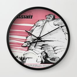 Vintage poster - Falstaff Wall Clock