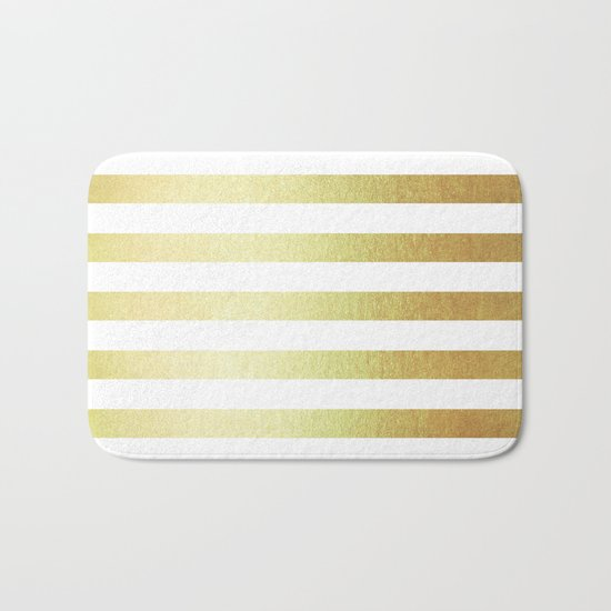Simply Striped 24K Gold Bath Mat