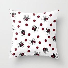 Halloween spider pattern. Seamless spiders background. Halloween pattern. Throw Pillow