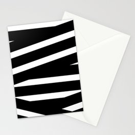Abstract black & white Lines Stripes Pattern - Mix and Match with Simplicity of Life Stationery Cards